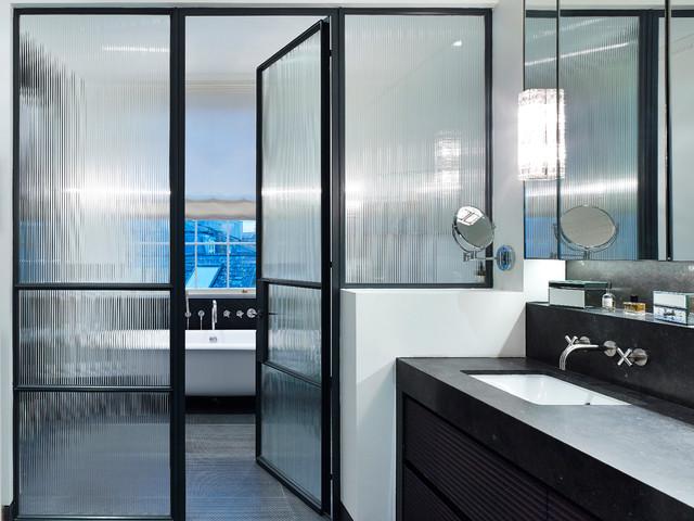 10 Chic Ways To Use Black Framed Shower Doors
