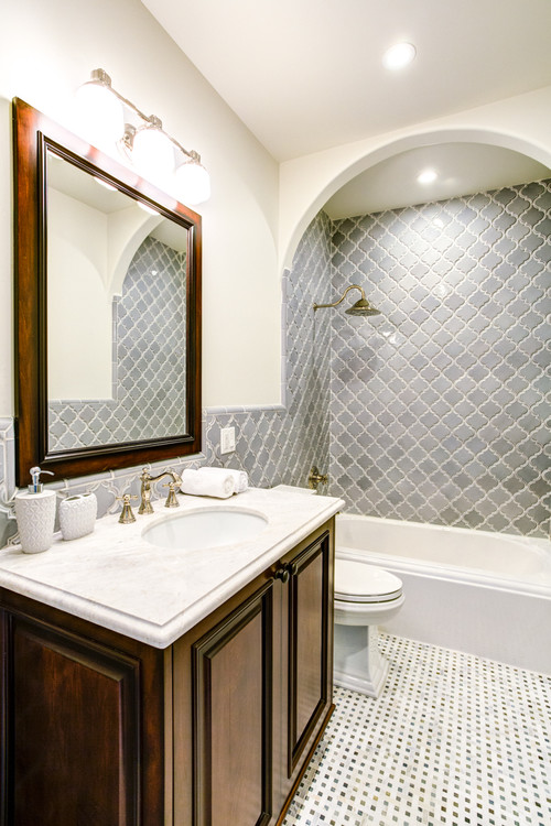 Create Elegance With An Arabesque Tile Backsplash Shop Now