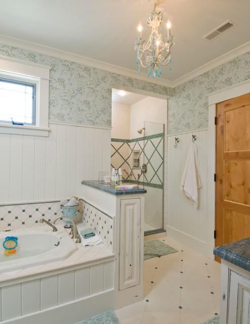 Crooked Moon Lodge traditional-bathroom