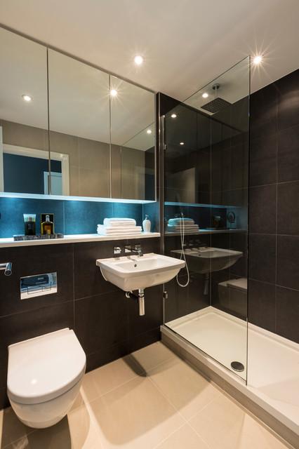 croydon penthouse  contemporary  bathroom  london
