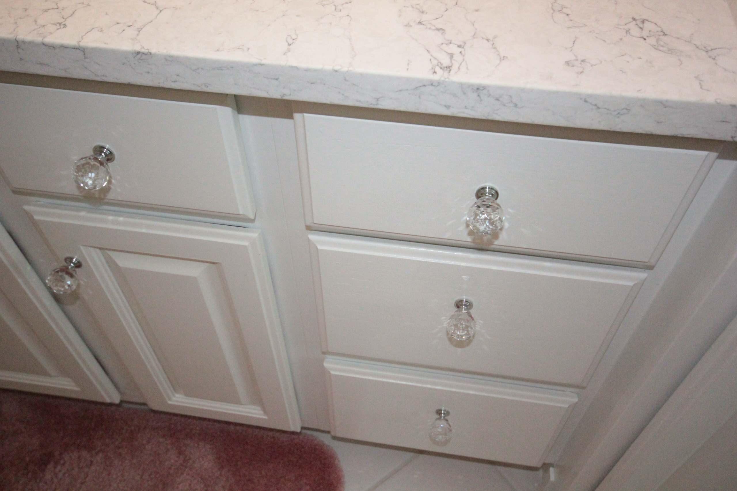 Crystal knobs.