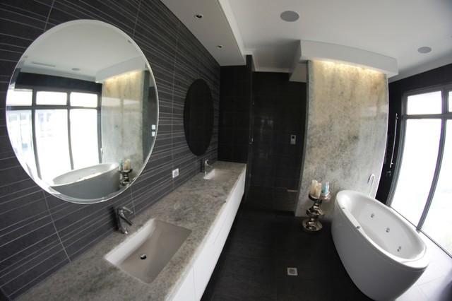 Crystal Mixed Onyx Natural Stone modern-bathroom