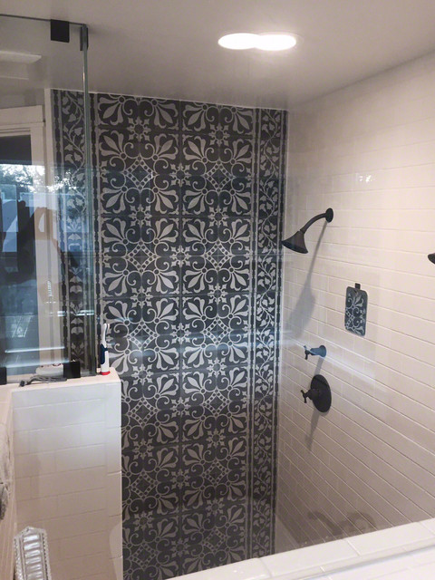 Bathroom Tiles Miami cuban tile - boca raton residence - mediterranean - bathroom