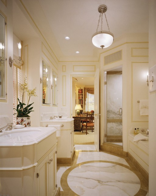 Cullman And Kravis Bath Featuring Calacatta Gold Marble Contemporary Tile