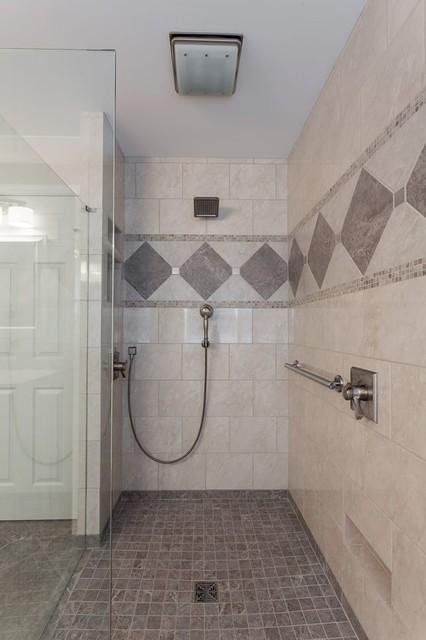 Curbless Accessible Shower Design Modern Bathroom