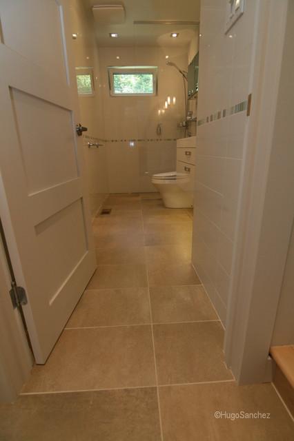 Curbless shower contemporary-bathroom