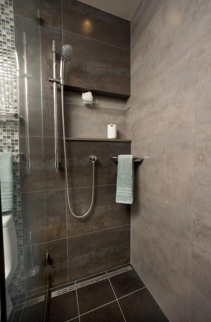 Curbless Shower Modern Bathroom San Francisco By