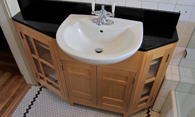 curtis vanity closet doors craftsman bathroom
