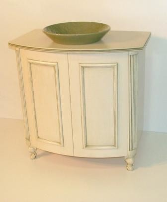 remarkable curved front bathroom vanity   Curved Front Vanity