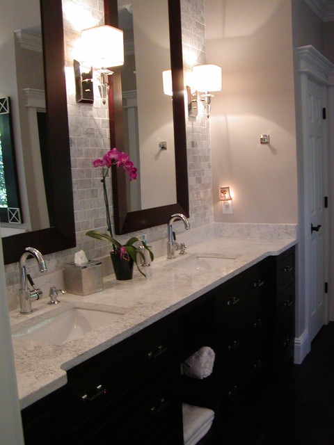 Custom all wood Cabinets contemporary-bathroom