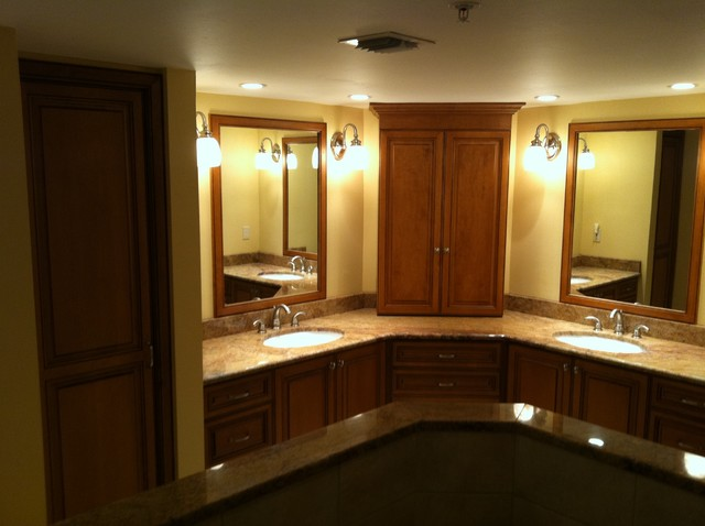 custom and refaced master vanity traditional bathroom miami by