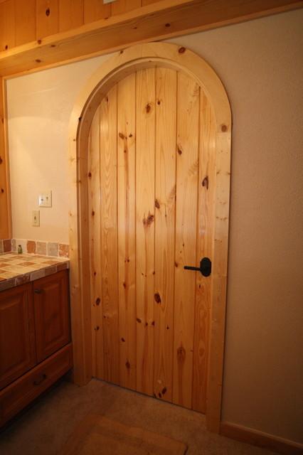 Custom Arched Interior Door   Traditional   Bathroom ...