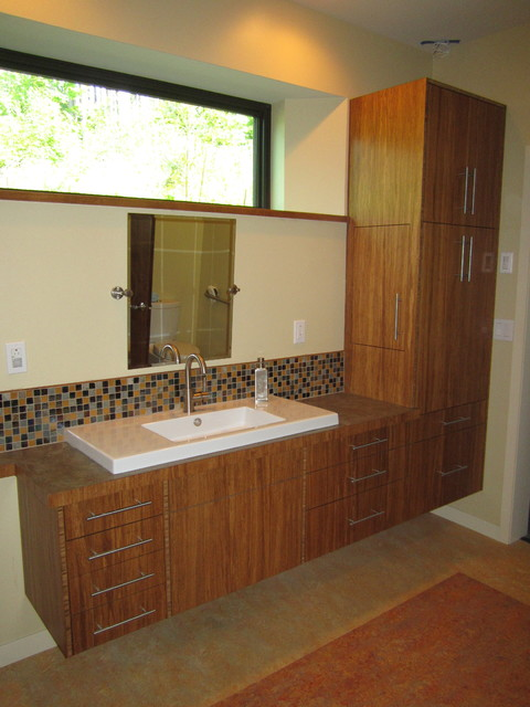Bamboo Bathroom Vanities custom bamboo plywood bathroom vanity - contemporary - bathroom