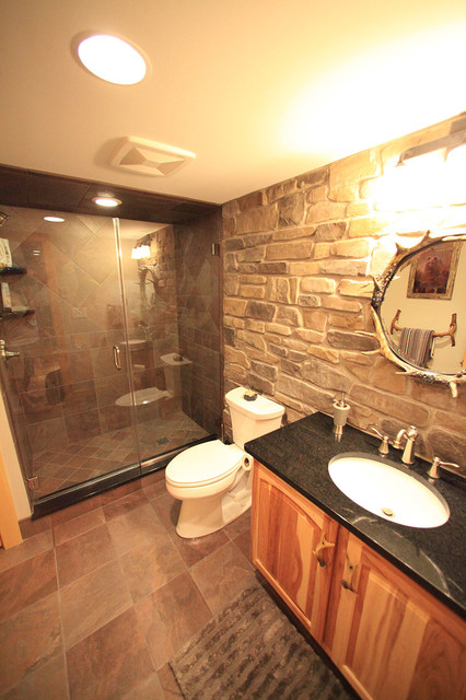 rustic basement bathroom ideas custom basement remodel hickory rustic bathroom 451