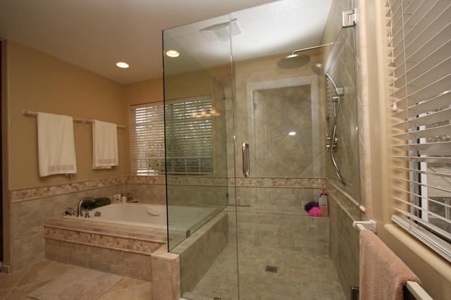 Custom bath remodels modern bathroom orange county for Custom master bath