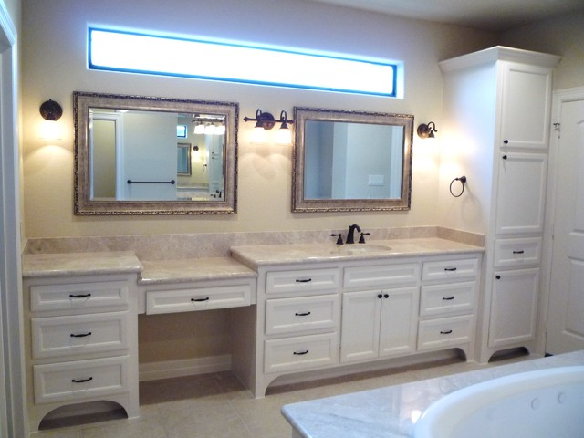 Custom bathroom cabinets vanities traditional for Custom bathroom vanity designs