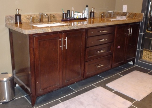 custom bathroom cabinets vanities traditional