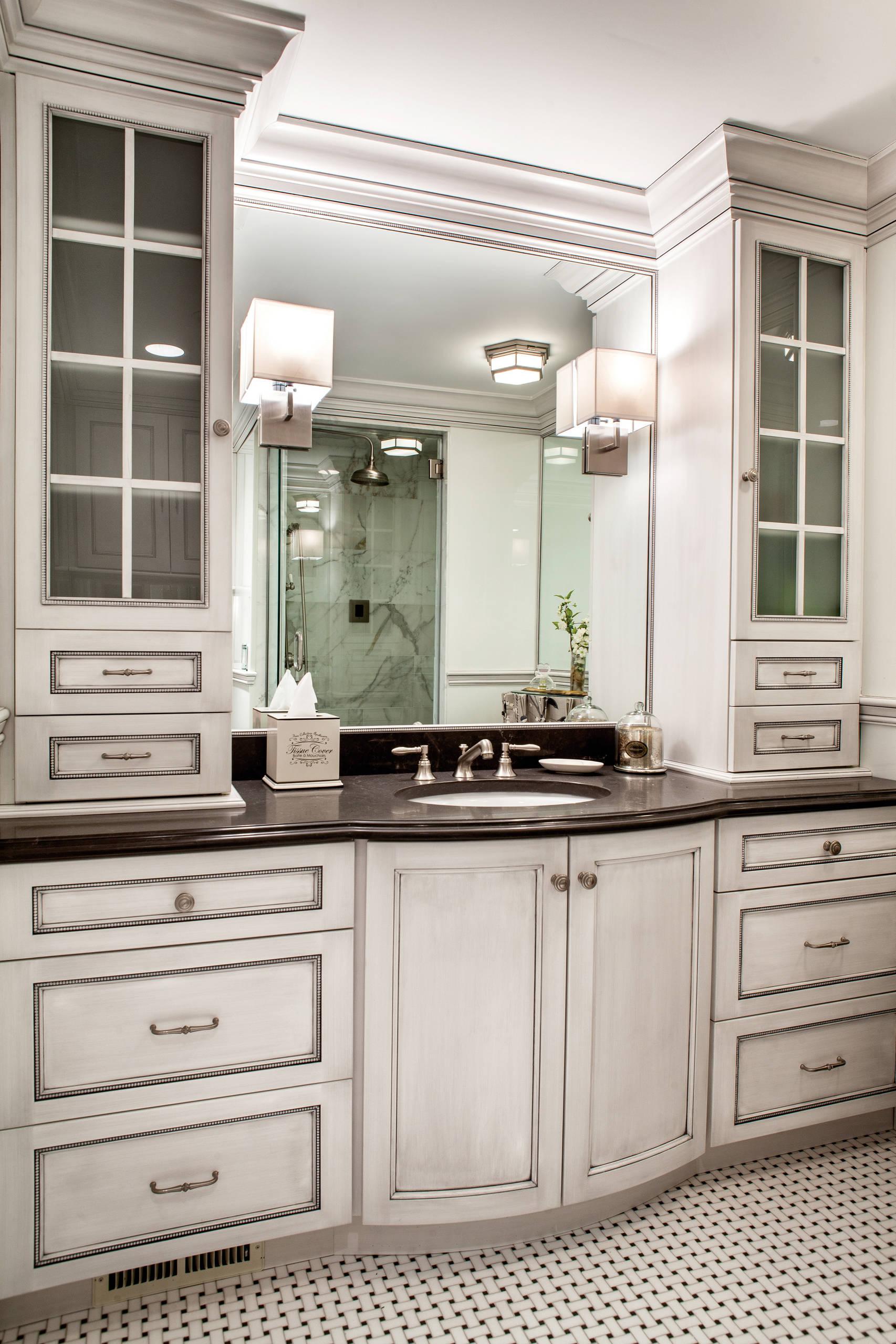 Custom Bathroom Cabinets Houzz