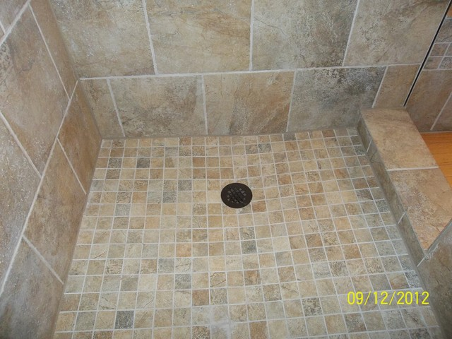 Custom Bathroom Custom Tile For Tub Shower And Vanity Florentine Scabos Traditional