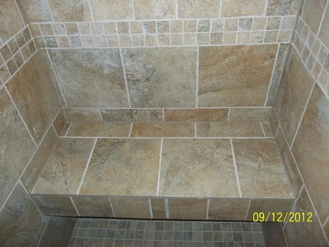 custom bathroom custom tile for tub shower and vanity florentine