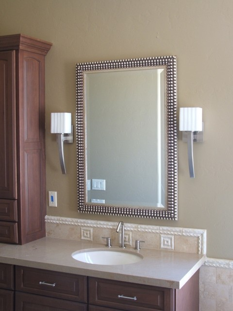 Luxury Custom Frosted Painted Bath Mirror