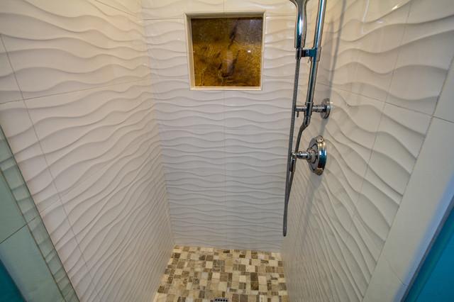 Coastal bathroom photo in San Diego
