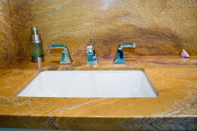 Inspiration for a beach style bathroom remodel in San Diego