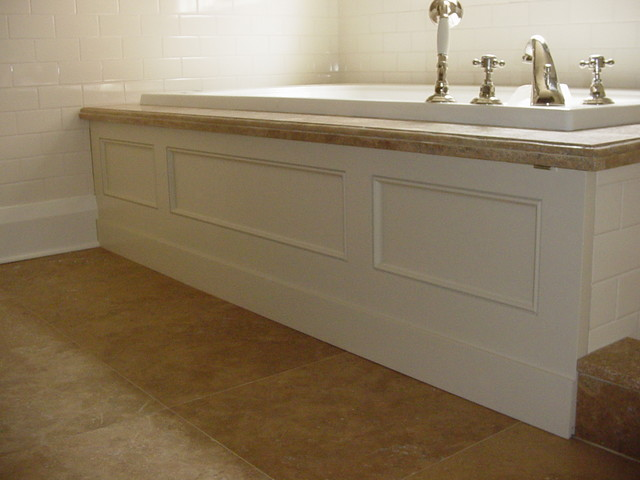 Custom Bathtub Skirt Traditional Bathroom