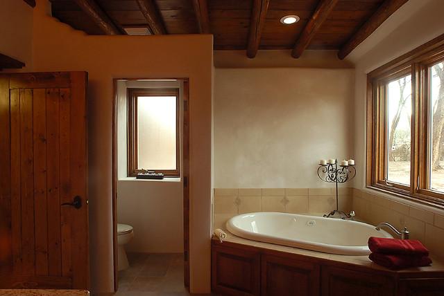 Custom Built Southwestern Home Southwestern Bathroom Albuquerque By Designs For Living Inc