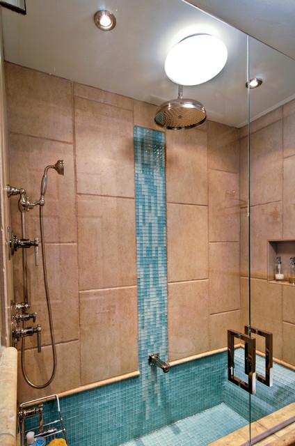 built in tub and shower. Custom Built Tub  Shower contemporary bathroom Contemporary Bathroom Charlotte