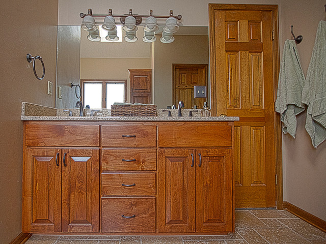Custom Cabinets Traditional Bathroom Kansas City By Excellence In Construction Llc