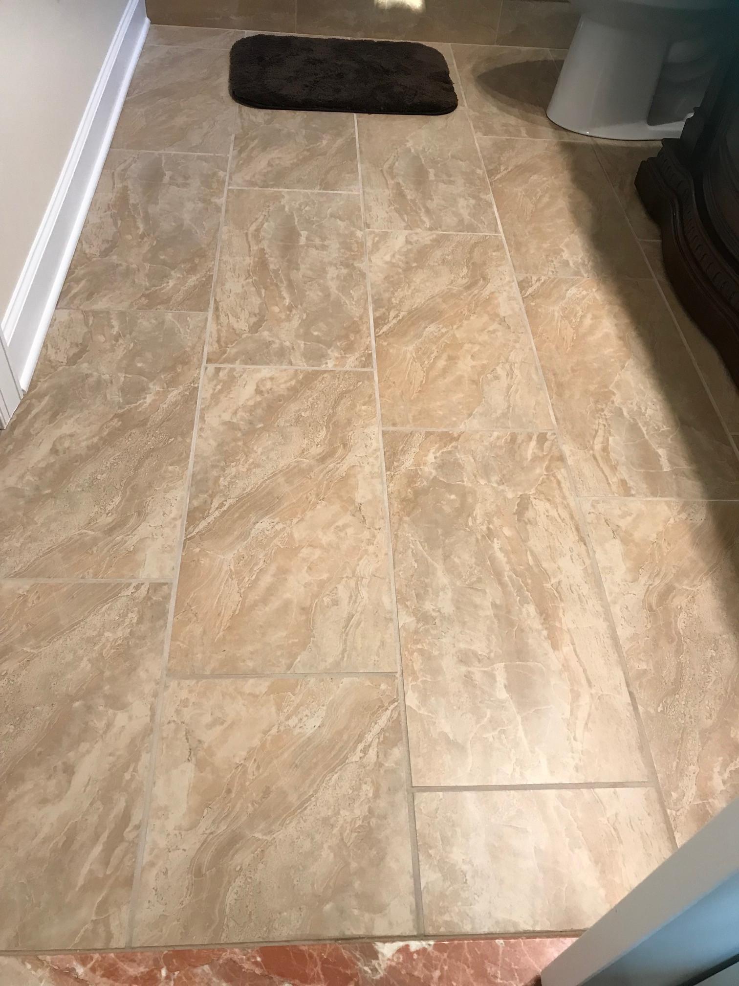 Custom Ceramic Bathroom Tile Floor