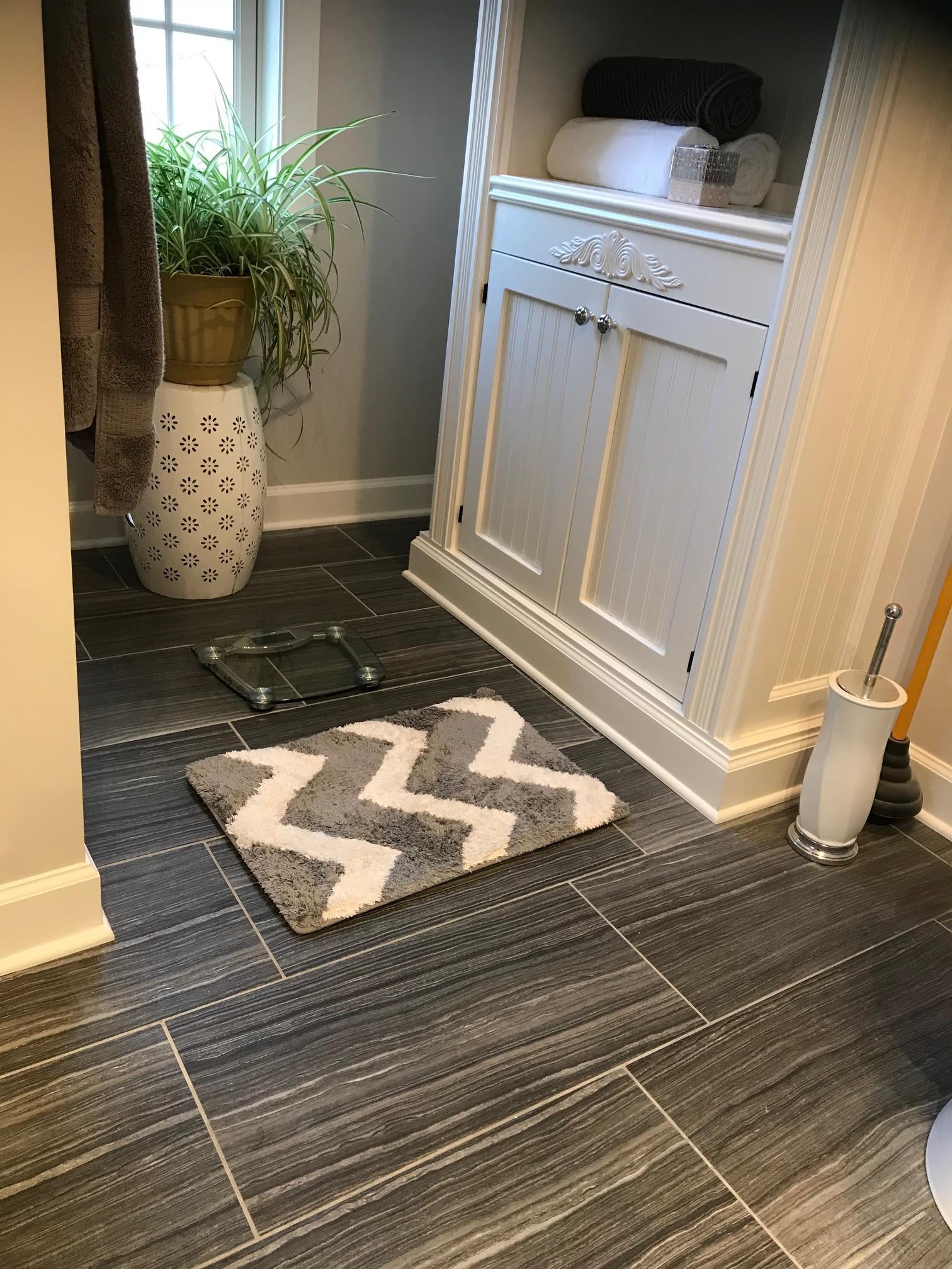 Custom  Ceramic Tile Bathroom Floor