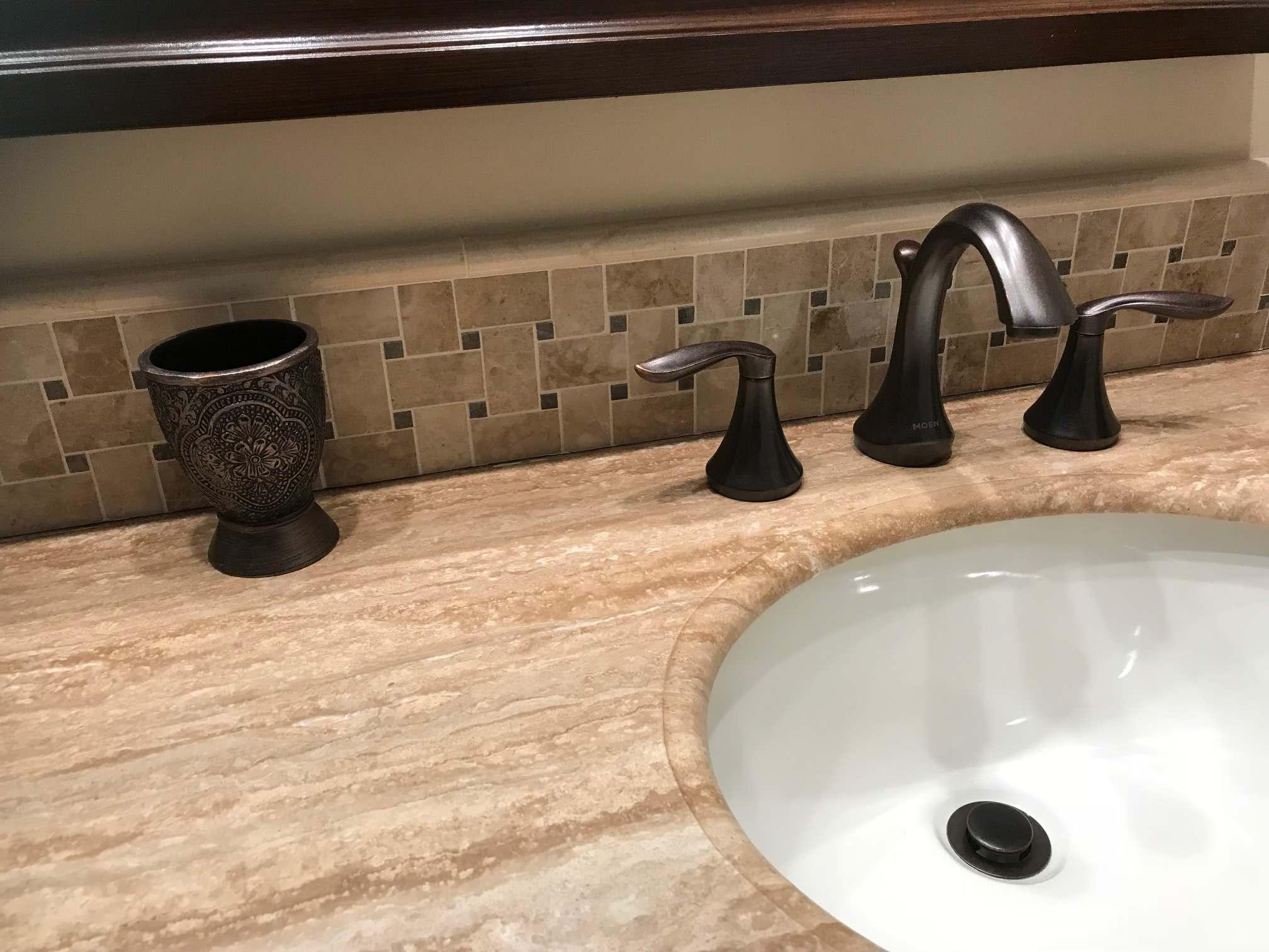 Custom Ceramic Vanity Backsplash