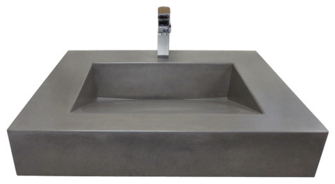 Custom Concrete Floating Ada Compliant Bathroom Sinks Contemporary Bathroom New York By