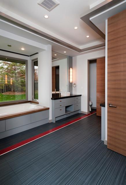 Custom Contemporary Home contemporary-bathroom