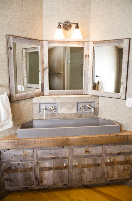 Custom corner vanity rustic bathroom other by - Corner bathroom vanities for sale ...
