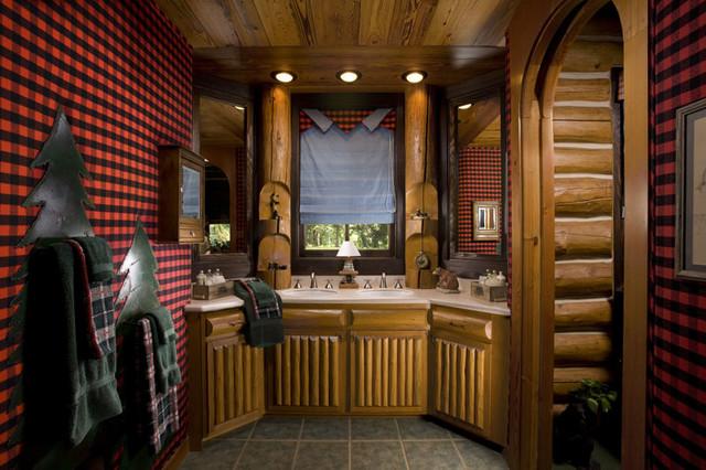 Custom Design (Caboose) rustic-bathroom