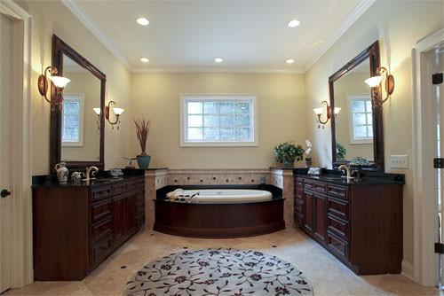 Custom Designed 9,000sft Plantation Home traditional-bathroom