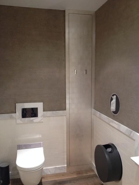 Custom Faux Finish Contemporary Bathroom Chicago
