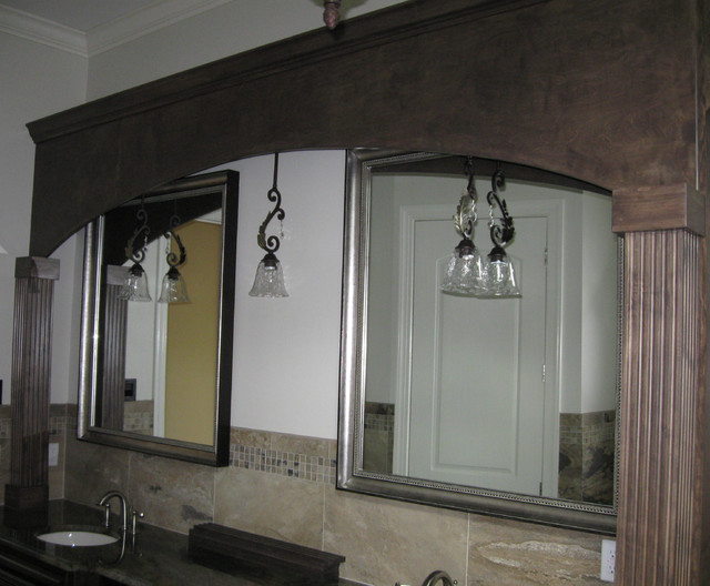custom framed mirrors bathroom custom framed mirrors mediterranean bathroom tampa 18028