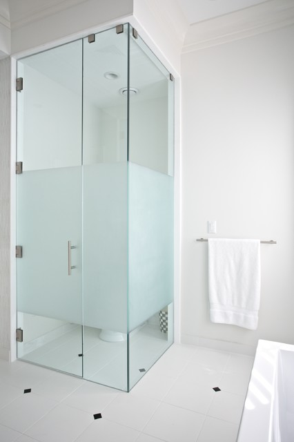 Custom Glass Door contemporary-bathroom