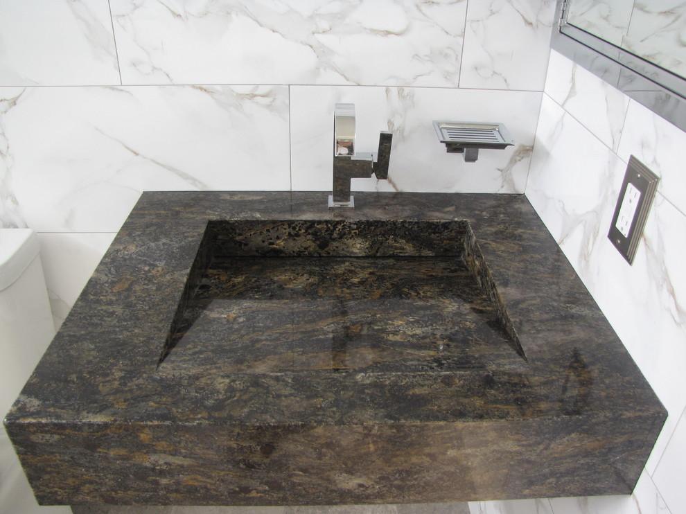 Custom Granite Sink Modern Bathroom, Granite Sink Bathroom