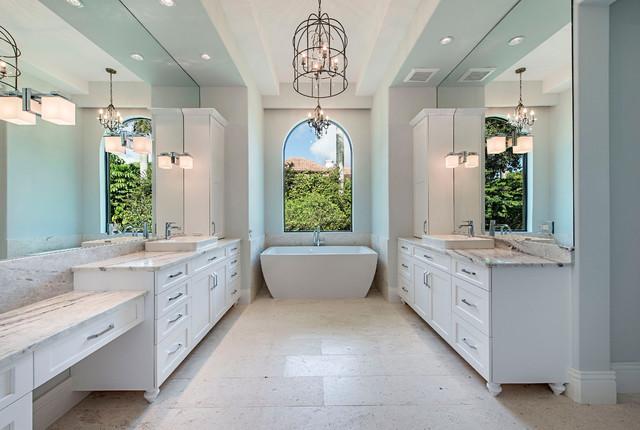Custom home 486 carica road naples fl contemporary for Bathroom decor naples fl