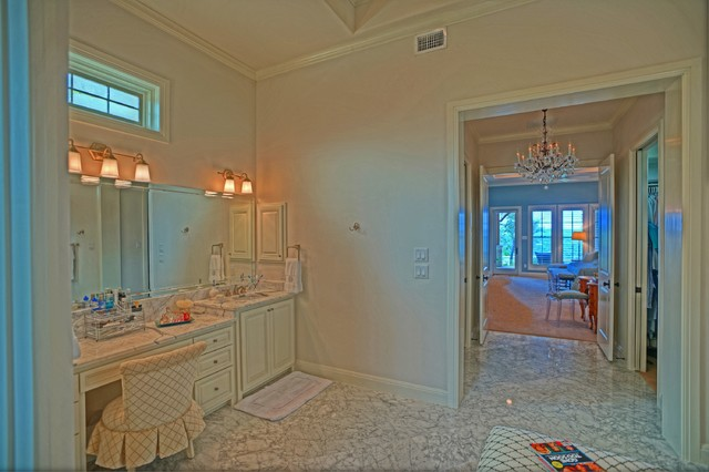 Custom home in leon springs traditional bathroom austin by sandera custom homes and Leon house kitchen design