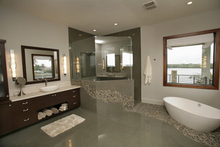Custom Home in St. Petersburg, FL modern-bathroom