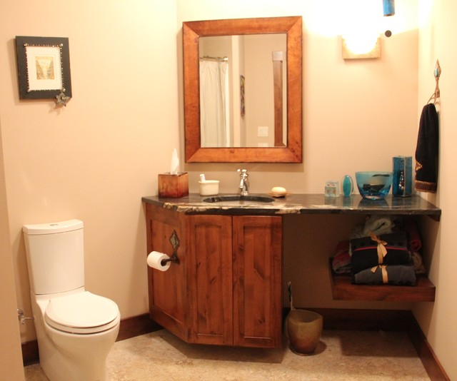 Custom Home modern-bathroom