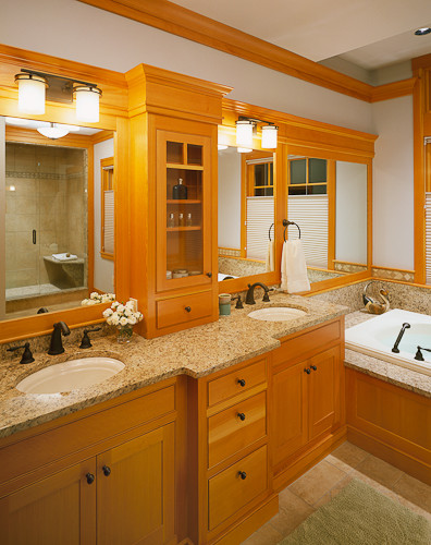 Custom home southern maine adirondack style lake house for Adirondack bathroom ideas