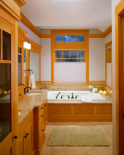 Custom home southern maine adirondack style lake house for Adirondack bathroom design