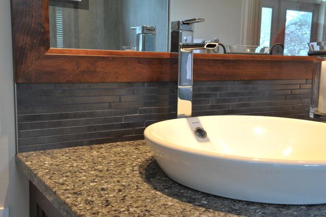 Custom Home Tile Installations contemporary-bathroom